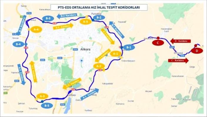Ankara Çevreyolları ile Ankara-Kırıkkale güzergahında 12 hız koridoru oluşturuldu