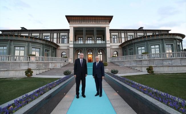 Cumhurbaşkanı Erdoğan ile MHP Genel Başkanı Bahçeli iftarda buluştu