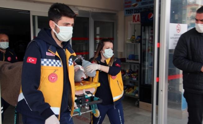 Sivas'ta devrilen motosikletin sürücüsü yaralandı