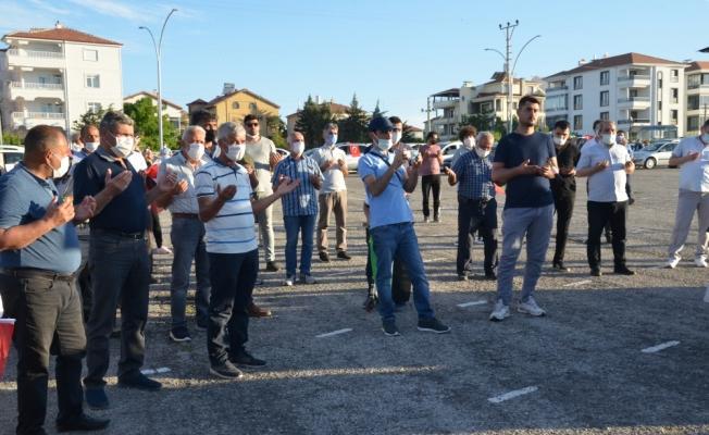 İsrail'in Filistin'e yönelik saldırıları Karaman'da protesto edildi