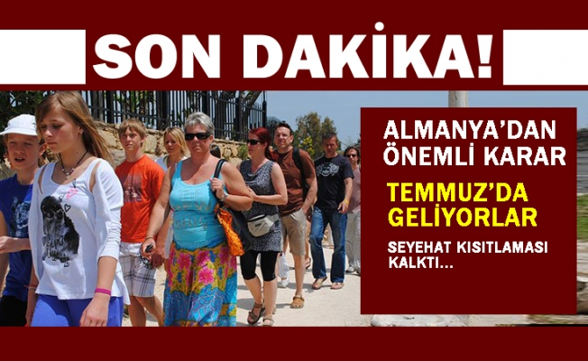 Almanya'dan Türkiye kararı