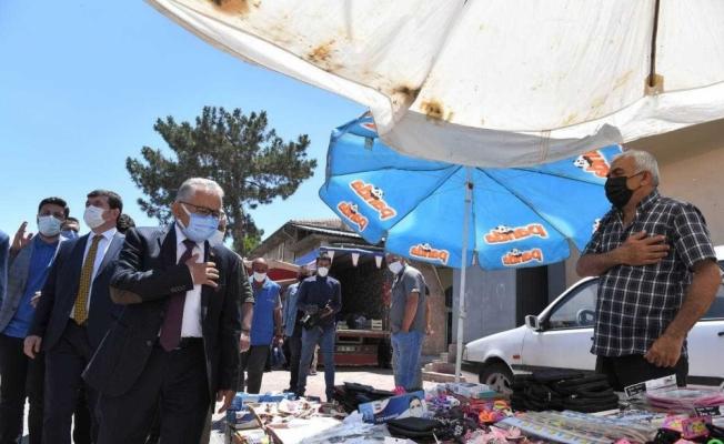 Başkan Memduh Büyükkılıç, kırsal mahallelerde vatandaşlarla bir araya geldi