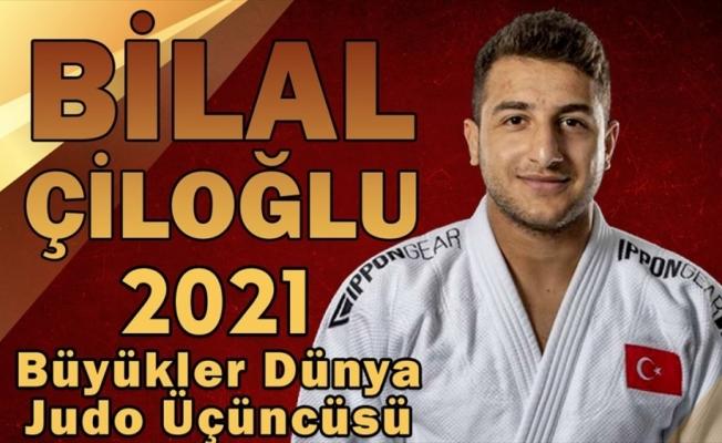 Milli judocu Bilal Çiloğlu, Macaristan'da dünya üçüncüsü oldu