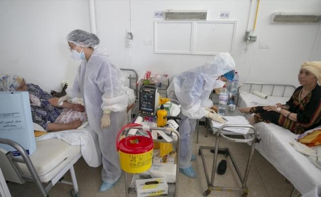 AA ekibi, Tunus'ta Kovid-19 hastalarının tedavi gördüğü hastaneyi görüntüledi