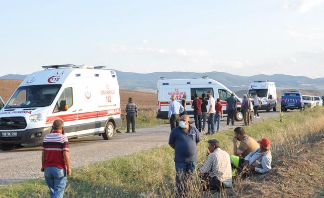 Yozgat Yerköy'de minibüs devrildi: 11 yaralı