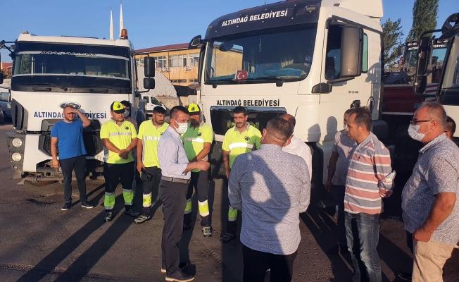 Altındağ'dan yangon bölgesine yardım konvoyu