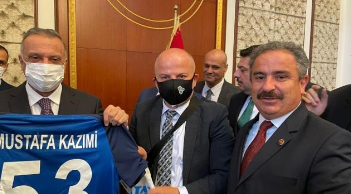 Irak Başbakanı Mustafa Kazimi'ye Rize Spor Forması….