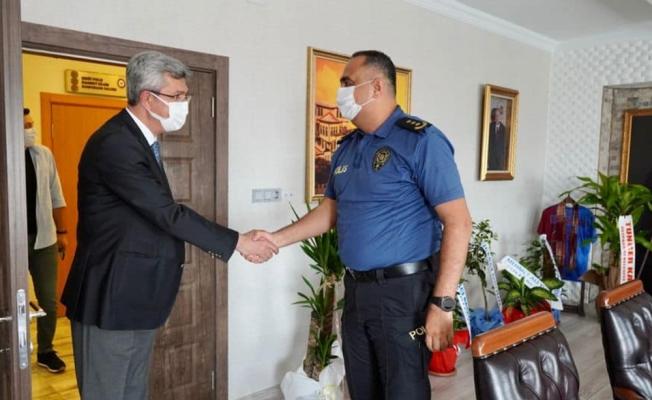 Beypazarı Belediye Başkanı Kaplan'dan Emniyet Müdürü Demirci'ye