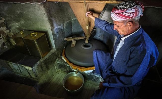 Çukurca'da geleneksel yöntemlerle hazırlanan tahin sofraları süslüyor