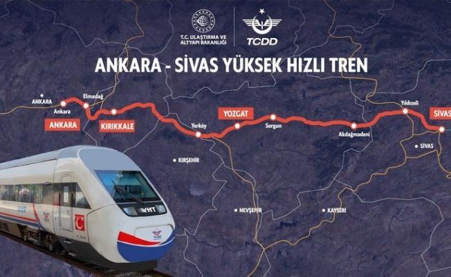 Sivas-Ankara Ulaşımı12 Saatten 2 Saate Düşüyor