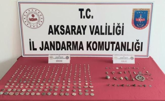 Aksaray'da tarihi eser niteliğinde 279 obje ele geçirildi