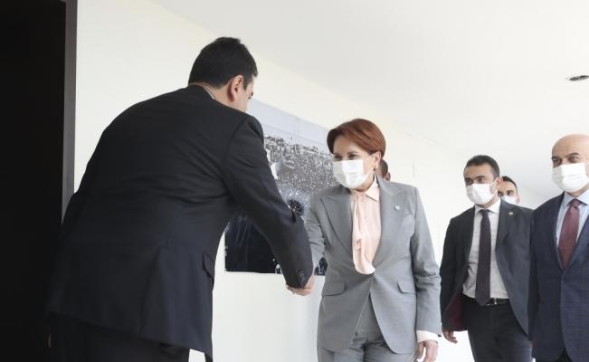 Akşener, DP Genel Başkanı Uysal'ı ziyaret etti: