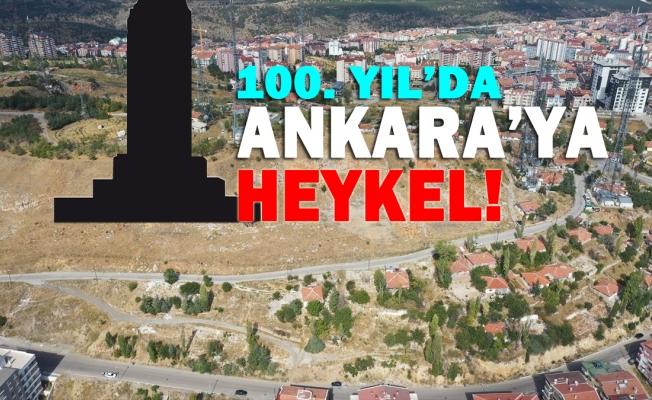 Ankara Büyükşehir Belediyesi'nin 100. Yıl Projesi heykel oldu.