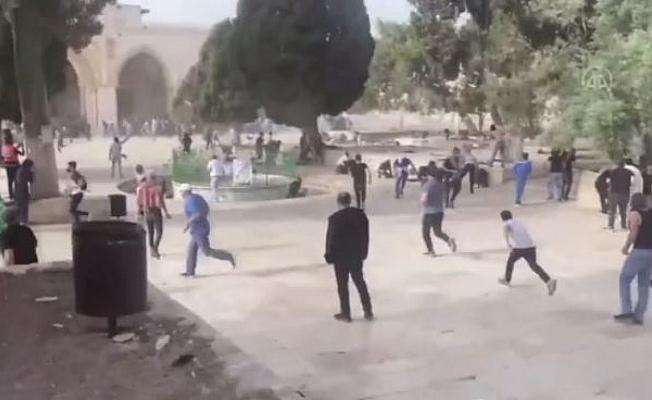 İsrail polisinden Filistinlilere yine sert müdahale