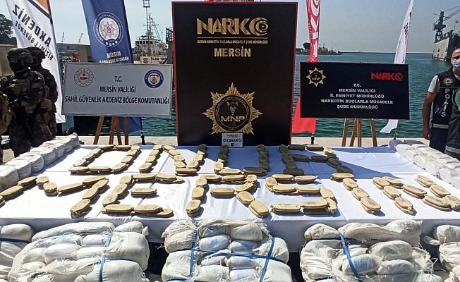 Suriye açıklarında ele geçirilen 1,5 ton uyuşturucu