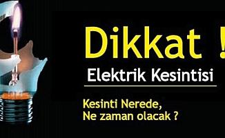 Ankara'da üç günlük elektrik kesintisi var