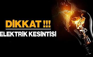 Ankara'nın birçok ilçesinde elektrik kesilecek