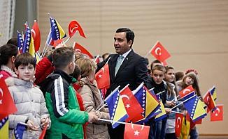 Bosna'da Ahi Evran-ı Veli Kırşehir Camisi temel atma töreni