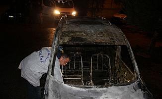 Konya'da hafif ticari araç kundaklandı