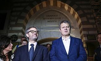 Avrupalı diplomatlar Anadolu Medeniyetleri Müzesi'ni gezdi