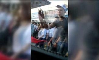 CHP'li grubun TRT ekibine saldırı anı kamerada