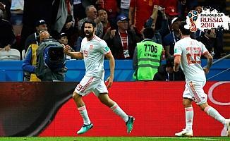 İspanya, İran'ı tek golle geçti