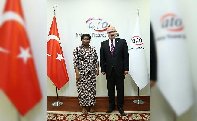 Tanzanya Büyükelçisi Kiondu'dan ATO'ya ziyaret