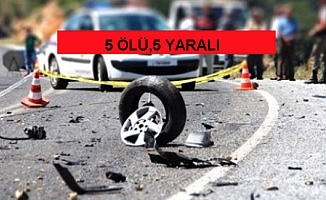 Sivas'ta iki otomobil çarpıştı: 5 ölü, 5 yaralı