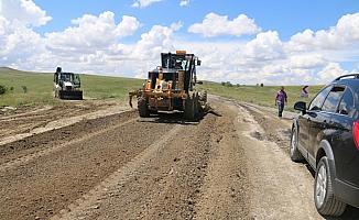 Ulaş'ta arazi yolları bakıma alındı