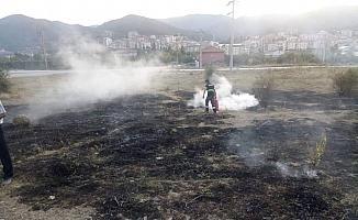Ankara'da örtü yangını