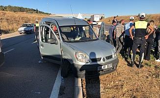 Kırıkkale'de zincirleme trafik kazası: 4 yaralı