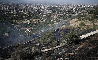 Tarihi ilçede arazi yangını