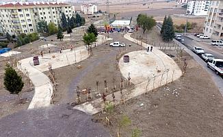Beypazarı'nda park çalışması