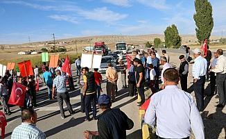 Çankırı'da köylülerden eylem