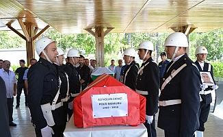 Görev başında vefat eden polis memuru, Aksaray'da defnedildi