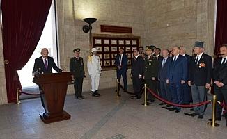 İçişleri Bakanı Süleyman Soylu Gaziler Günü'nde Anıtkabir'de...