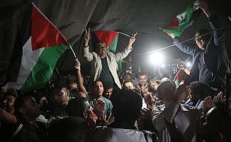 Filistinlilerden Han el-Ahmer'deki gösterilere devam kararı