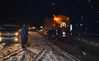 Akseki-Seydişehir kara yolunda ulaşımda kar engeli