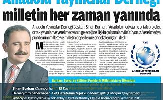 Anadolu Yayıncılar Derneği Milletin Her Zaman Yanında…