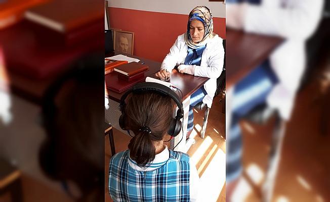 Beypazarı'nda öğrencilere işitme testi taraması