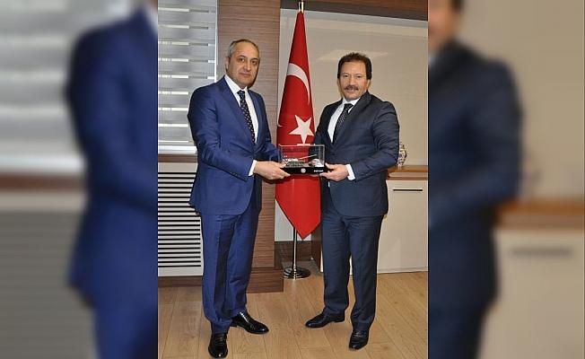 Başkan Yiğiner'den MKE Genel Müdürü Ünal'a ziyaret