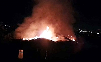 Başkentte çıkan yangında 10 kişi dumandan etkilendi
