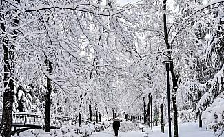 Başkentte kar manzaraları