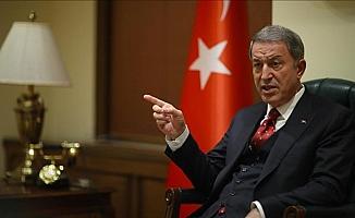 Milli Savunma Bakanı Akar: Türkiye'nin güneyinde terör koridoruna göz yummayız
