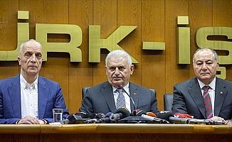 TBMM Başkanı Yıldırım: Türk-İş'i ziyaretim yaşananlara karşı bir cevaptır