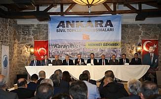 Başkentte 186 dernek ve 10 federasyondan Özhaseki'ye destek