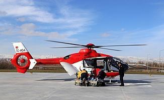 Sivas'ın ilk ambulans helikopteri KOAH hastası için havalandı