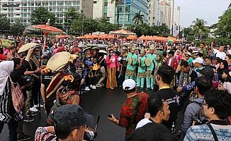 Endonezya'da 'arabasız gün' etkinliğine yoğun ilgi