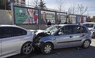 Başkentte trafik kazası: 3 yaralı