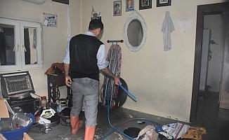 Cizre'de etkili olan yağış